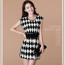 MINI DRESS KOREA MOTIF DIAMOND CANTIK