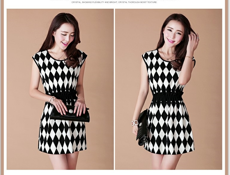TOKO MINI DRESS KOREA MOTIF DIAMOND CANTIK