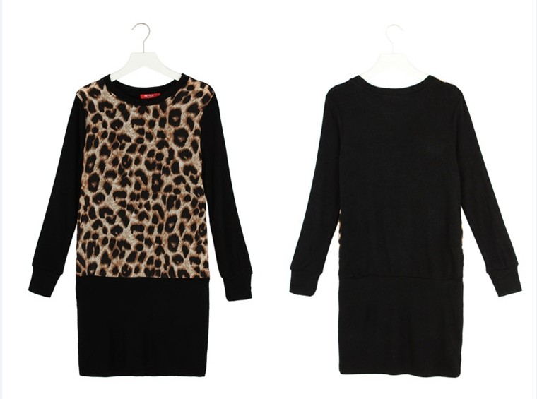 BAJU DRESS MOTIF LEOPARD TERBARU IMPORT