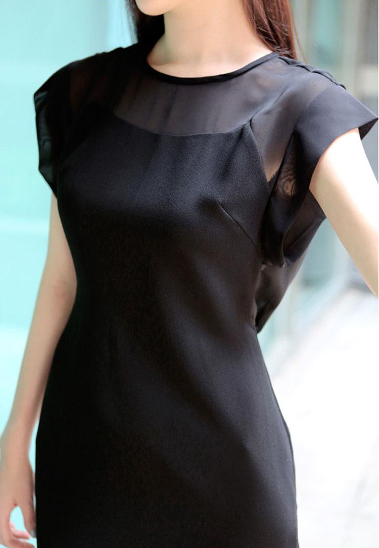 DRESS KOREA HITAM CANTIK TERBARU 2014