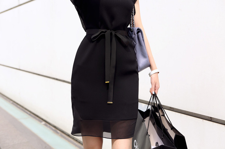 DRESS KOREA HITAM CANTIK TERBARU IMPORT