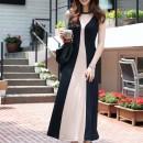 LONG DRESS LENGAN BUNTUNG MODEL KOREA