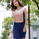 MINI DRESS KOREA CANTIK LENGAN BUNTUNG