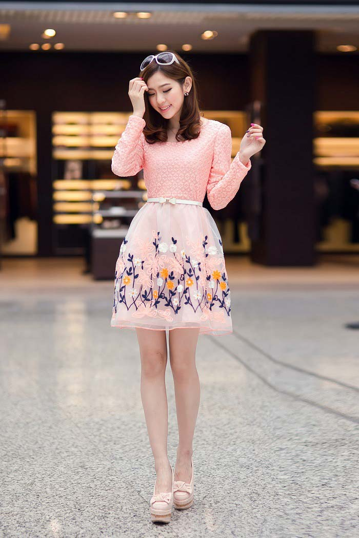 MINI DRESS MOTIF BUNGA CANTIK TERBARU IMPORT