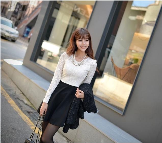 DRESS BROKAT KOREA TERBARU 2014 CANTIK