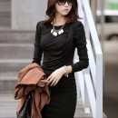DRESS KOREA HITAM PANJANG SELUTUT