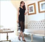 LONG DRESS KOREA HITAM CANTIK