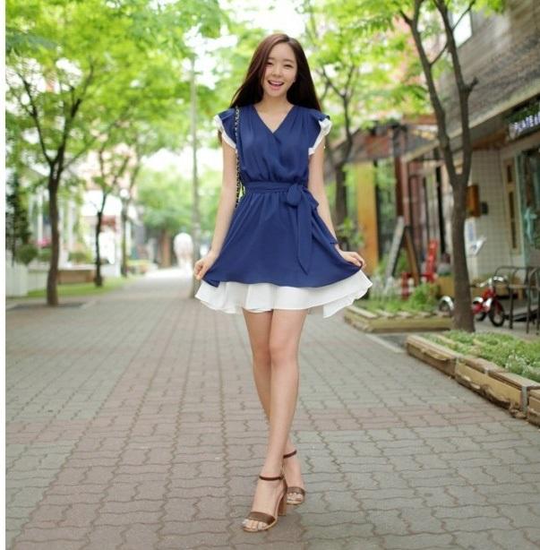MINI DRESS IMPORT KOREA KERAH V MODIS
