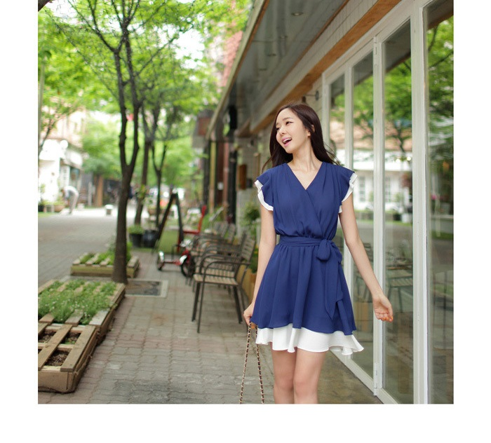TOKO MINI DRESS IMPORT KOREA KERAH V