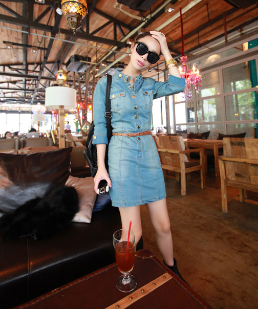 DRESS JEANS CANTIK TERBARU KOREA