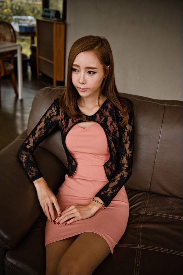 DRESS KOREA BROKAT CANTIK 2014