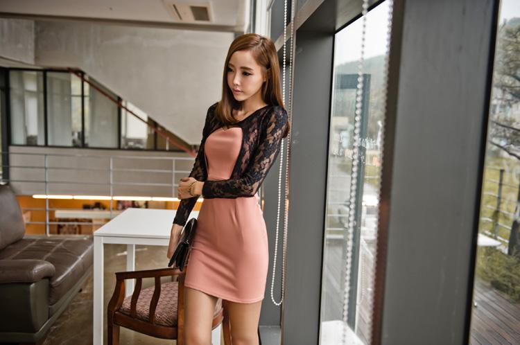 DRESS KOREA BROKAT CANTIK IMPORT