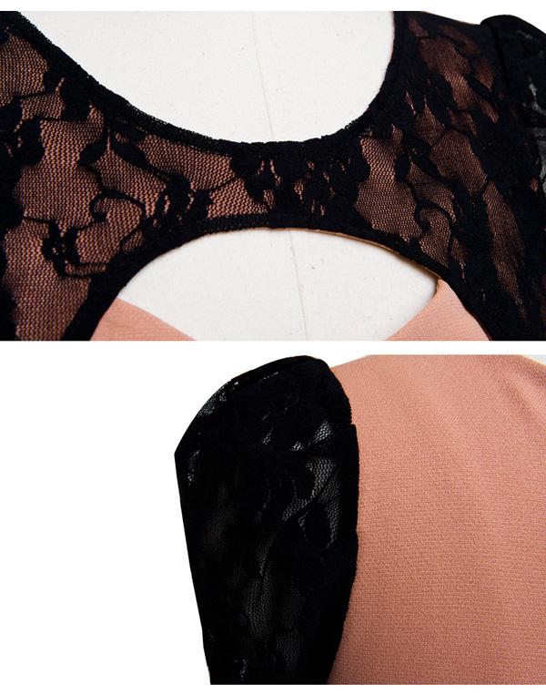 DRESS KOREA BROKAT CANTIK SIMPLE