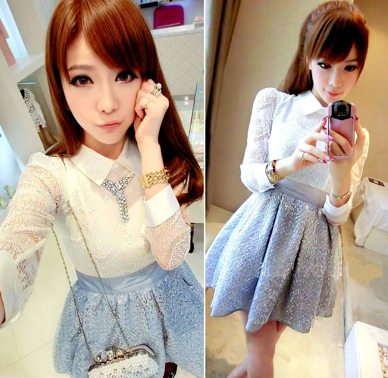 DRESS PESTA WANITA BROKAT IMPORT