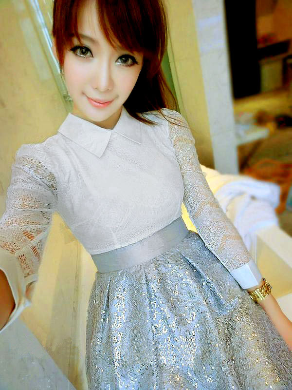 DRESS PESTA WANITA BROKAT KOREA