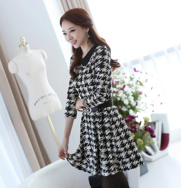 DRESS WANITA KOREA MOTIF 2014 MURAH