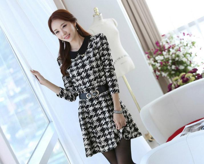 DRESS WANITA KOREA MOTIF 2014 TERBARU