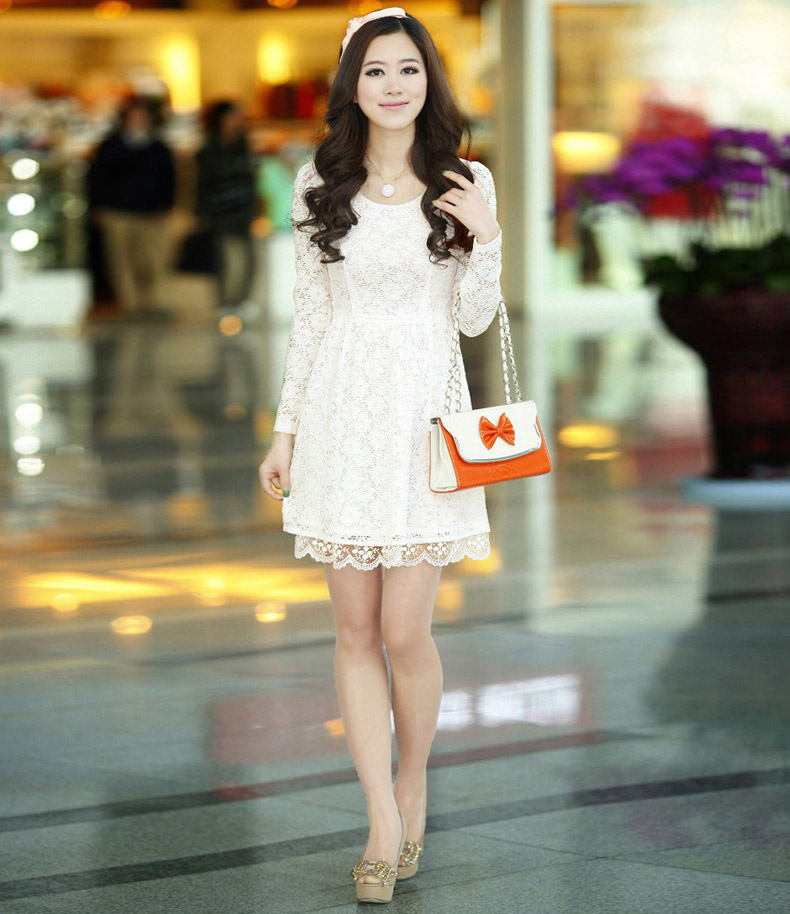 JUAL DRESS BROKAT KOREA CANTIK