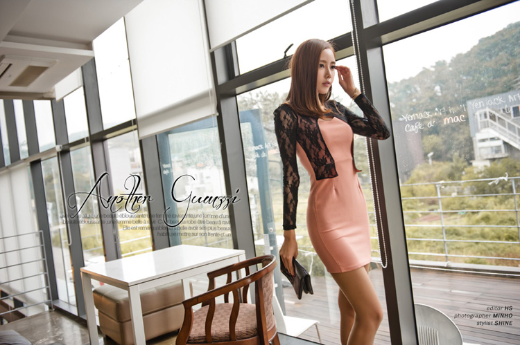 JUAL DRESS KOREA BROKAT CANTIK