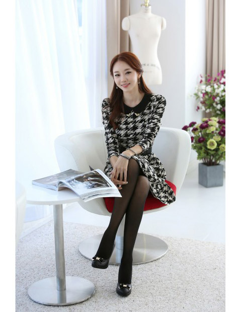 JUAL DRESS WANITA KOREA MOTIF 2014