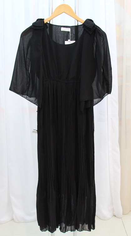 LONG DRESS PESTA TERBARU CANTIK HITAM