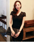 DRESS HITAM BROKAT KOREA 2014