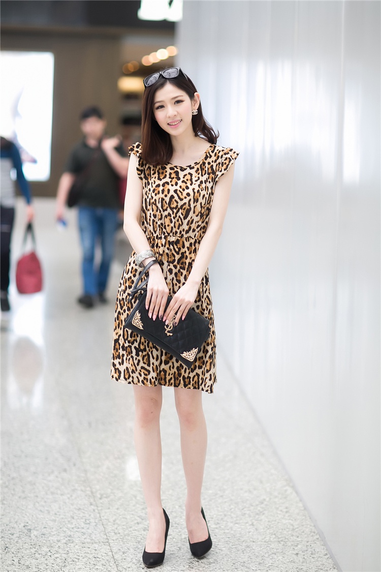 DRESS MOTIF LEOPARD CANTIK 2014