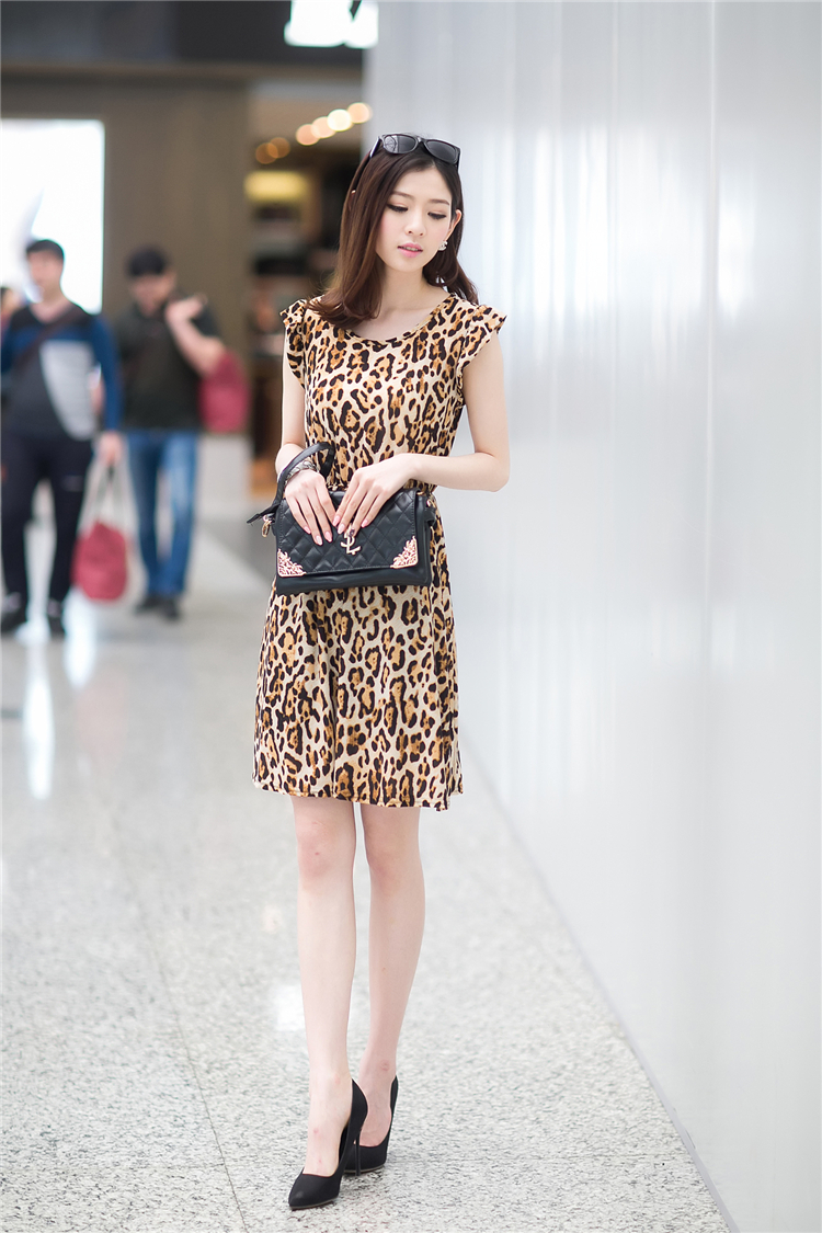 DRESS MOTIF LEOPARD CANTIK MODIS
