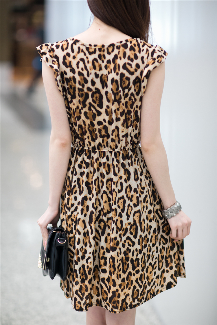 DRESS MOTIF LEOPARD CANTIK SIMPEL
