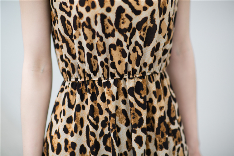 DRESS MOTIF LEOPARD CANTIK SIMPLE