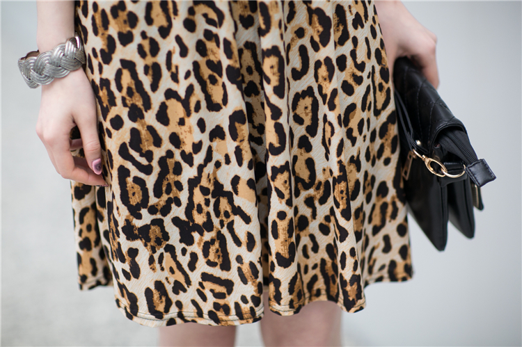 DRESS MOTIF LEOPARD CANTIK TERKINI