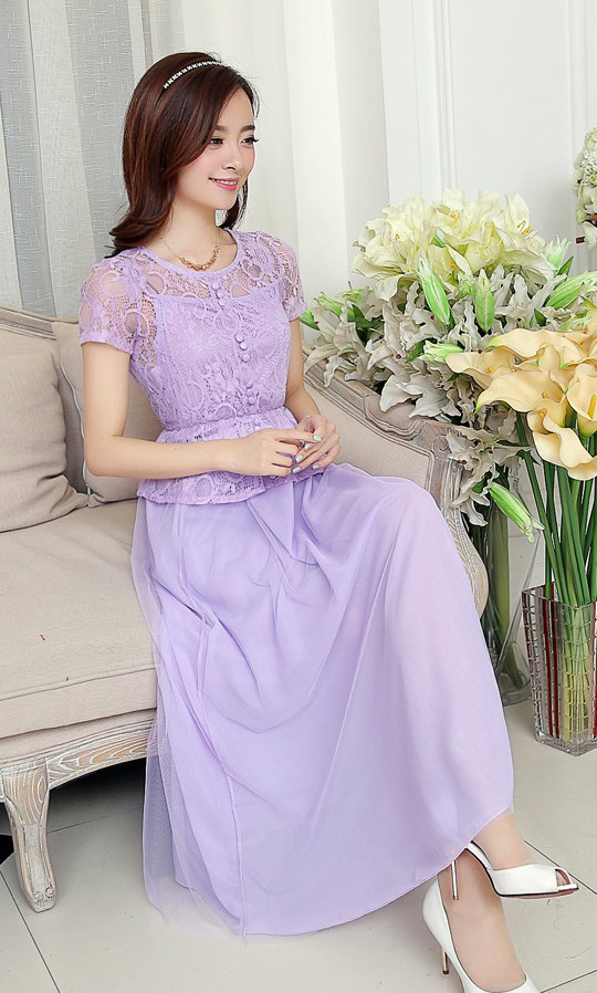 LONG DRESS PESTA BROKAT CANTIK 2014