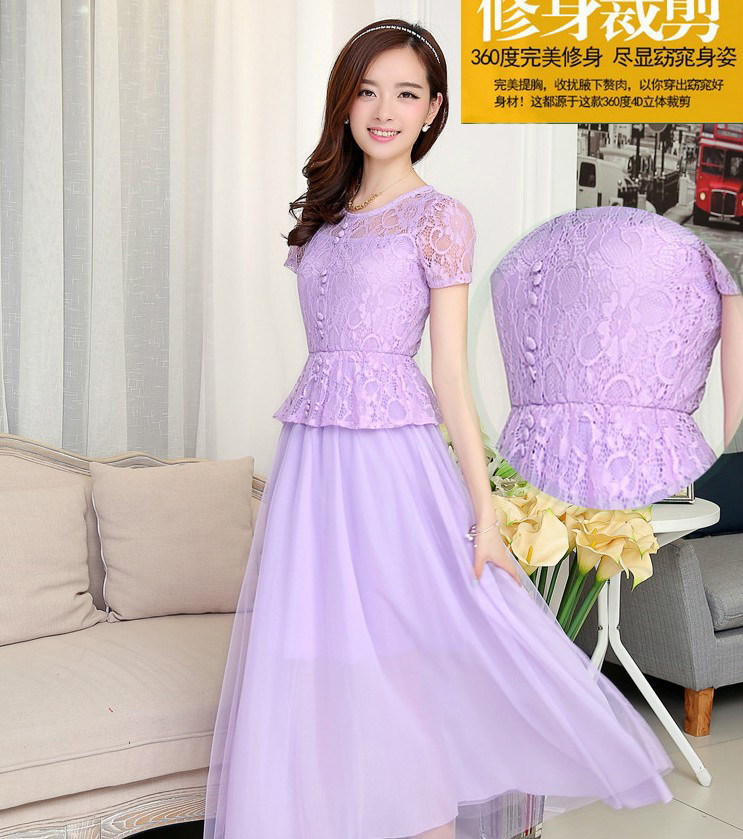 Long Dress Pesta Brokat Cantik Model Terbaru Jual Murah Import