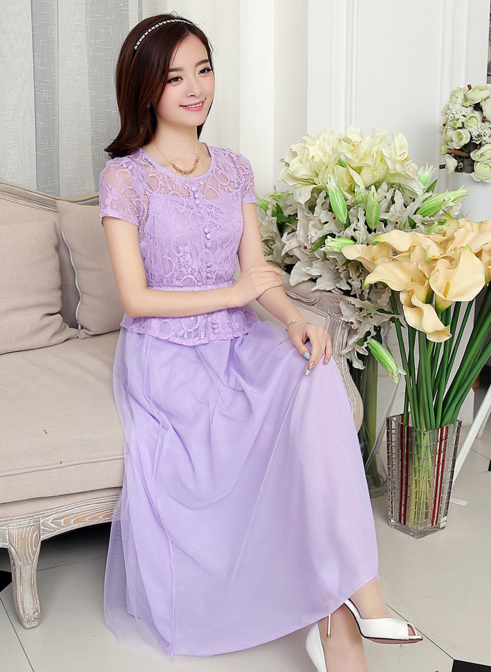 Model Long Dress Brokat Terbaru | HAIRSTYLE GALLERY
