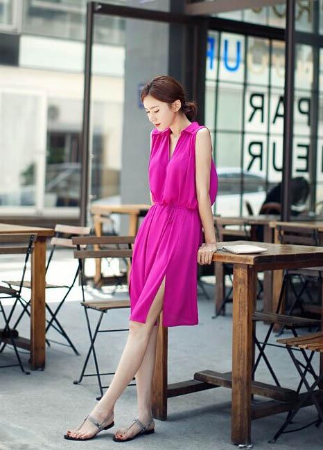 DRESS SIFON LENGAN BUNTUNG