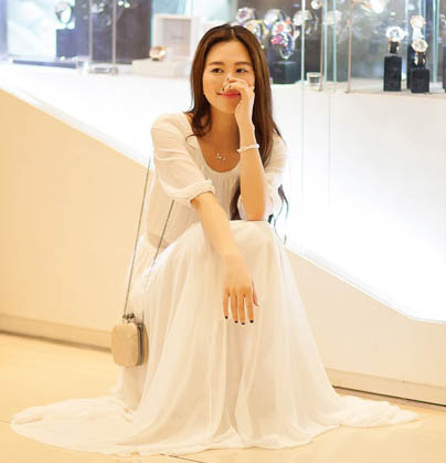 BELI LONG DRESS KOREA SIFON PUTIH