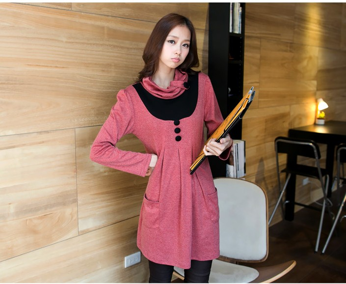 DRESS WANITA KOREA LENGAN PANJANG IMPORT