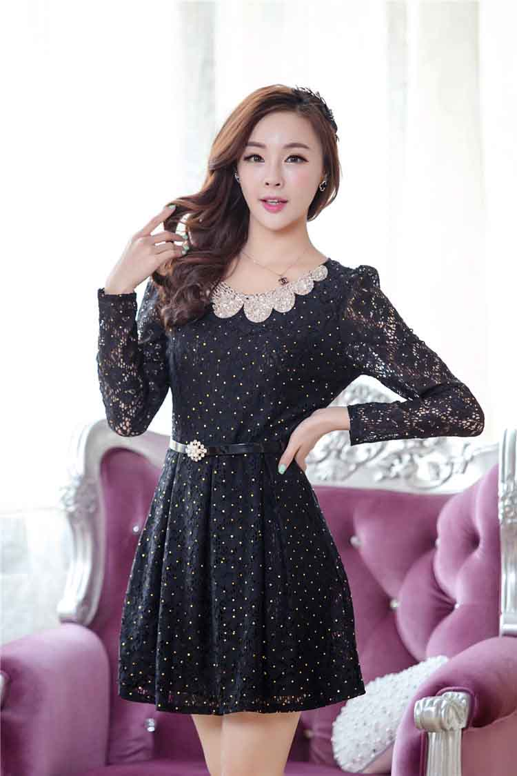 DRESS KOREA BAHAN BROKAT ONLINE 2015