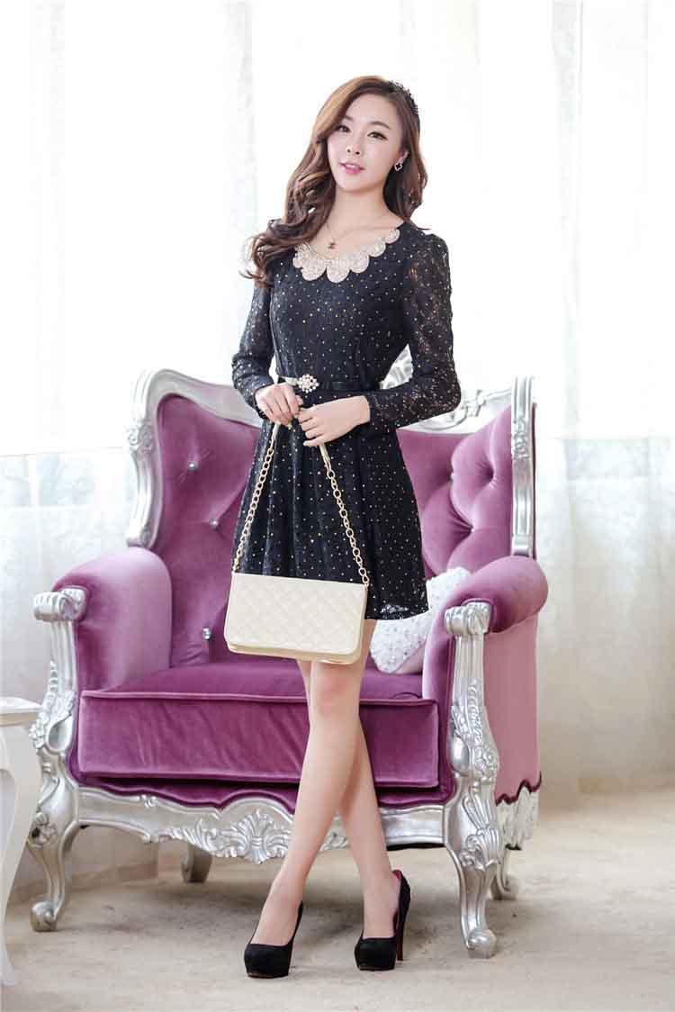 DRESS KOREA BAHAN BROKAT ONLINE
