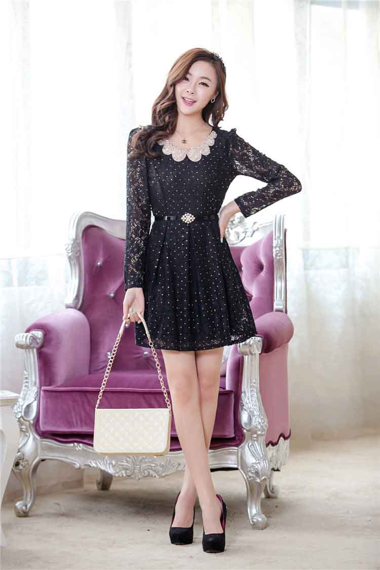 JUAL DRESS KOREA BAHAN BROKAT ONLINE