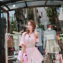 MINI DRESS PINK MODEL KOREA TERBARU