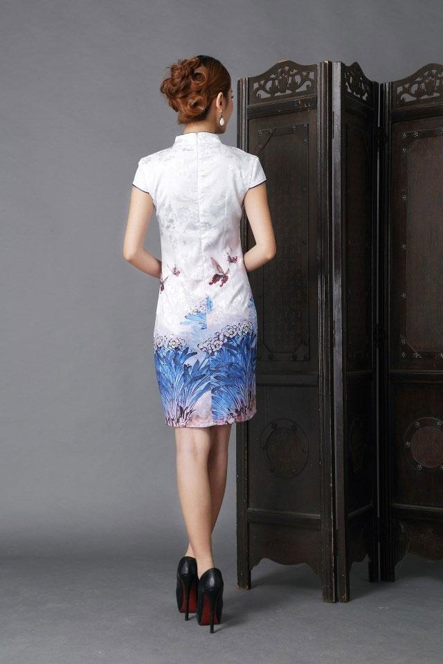 Baju Imlek Cheongsam Warna Putih 2015 Model Terbaru
