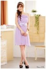 DRESS PESTA PITA WARNA UNGU CANTIK