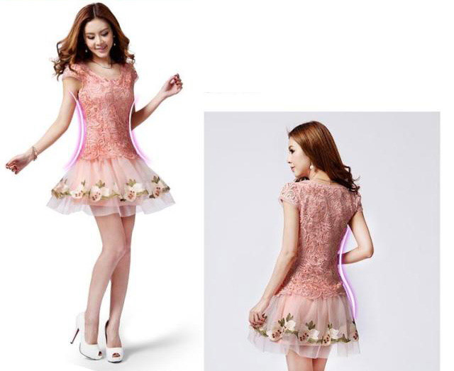BELI DRESS BROKAT PRINCESS MODEL TERBARU 2015