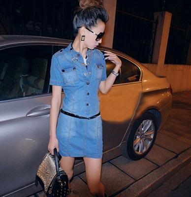 BAJU DRESS JEANS WANITA TERBARU | Model Terbaru | Jual Murah | Import | Kerja