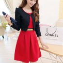 DRESS KOREA CANTIK GRATIS CARDIGAN