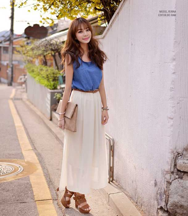 JUAL LONG DRESS SIFON JEANS TERBARU 2015