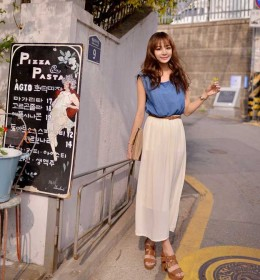 LONG DRESS SIFON JEANS TERBARU 2015
