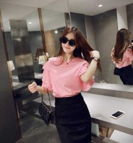 BLOUSE WANITA WARNA PINK MODERN FASHION