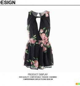 DRESS WANITA HITAM BUNGA CANTIK 2015